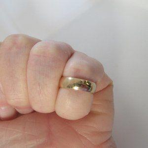 10k yellow solid gold plain wedding band ring